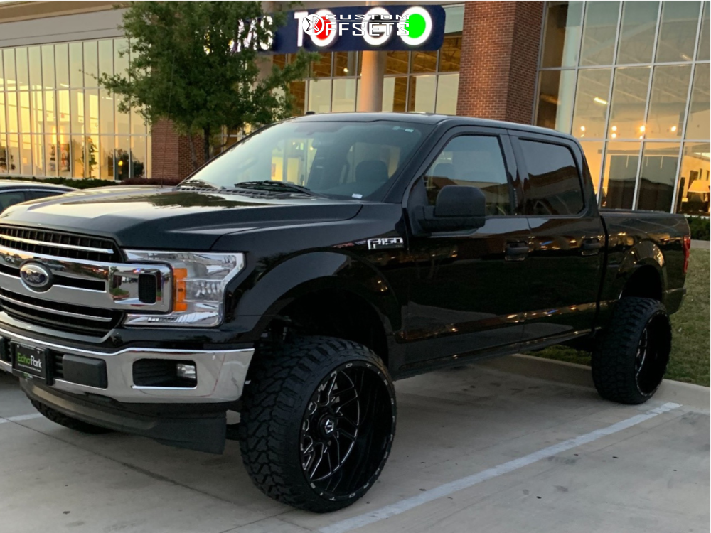 1 2018 F 150 Ford Rough Country Suspension Lift 6in Tis 544bm Black