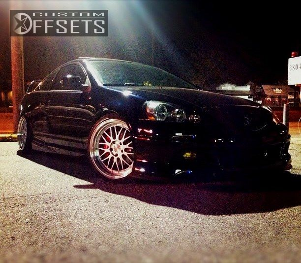 Wheel Offset 2004 Acura Rsx Flush Dropped 3 Custom Rims