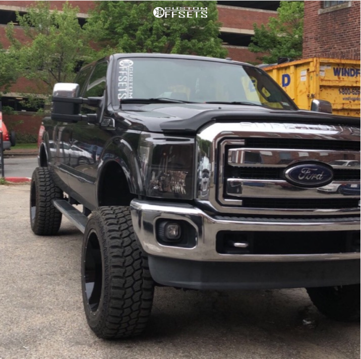 "2013 Ford F-250 Super Duty Super Aggressive 3""-5"" on 22x12 -51 offset Vision Spyder and 37""x13.5"" Mud Claw Extreme M/t on Suspension Lift 6"" - Custom Offsets Gallery"