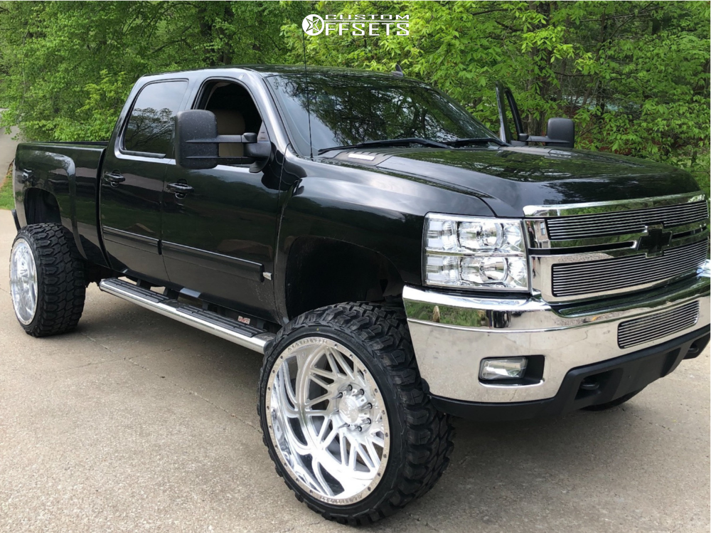 1 2011 Silverado 3500 Hd Chevrolet Rough Country Suspension Lift 5in Amani Forged Other Polished