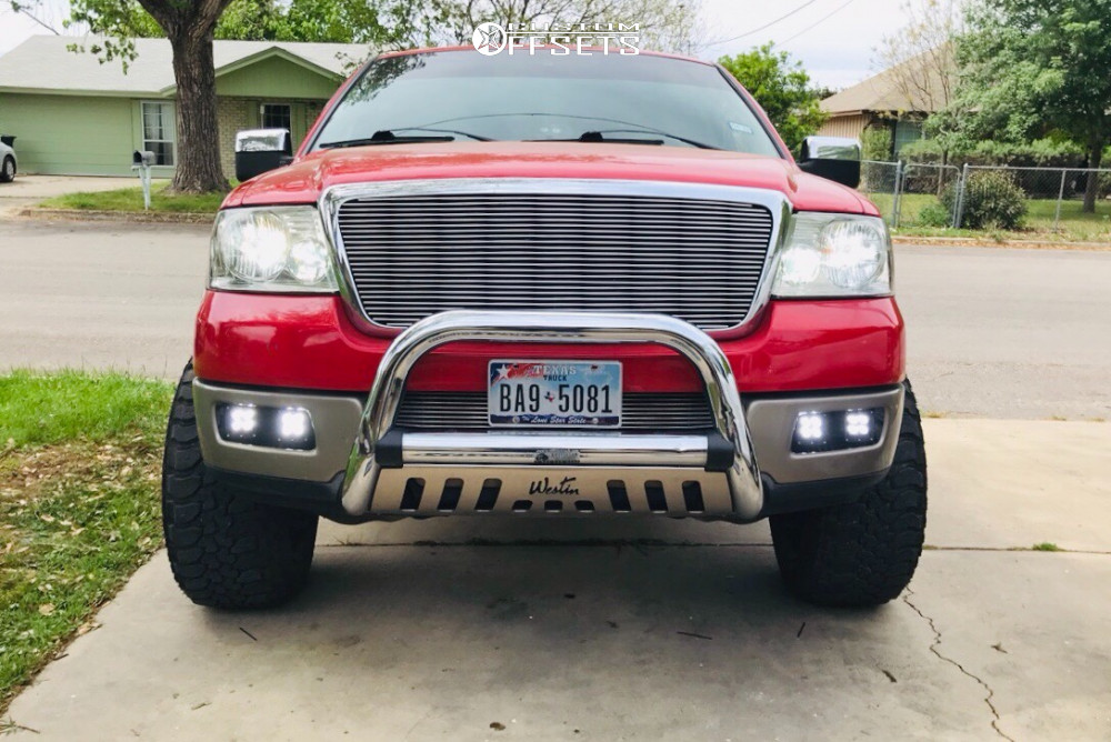 """2004 Ford F-150 Super Aggressive 3""""-5"""" on 20x12 -51 offset Vision Sliver and 33""""x12.5"""" ZEETEX Mt1000 on Leveling Kit - Custom Offsets Gallery"""