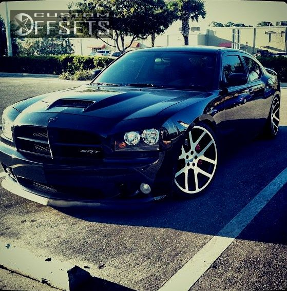 wheel offset 2008 dodge charger tucked dropped 1 3 custom rims. Black Bedroom Furniture Sets. Home Design Ideas