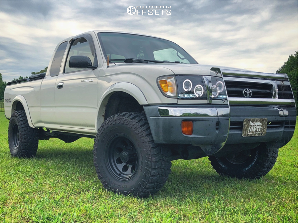 1 1999 Tacoma Toyota Rough Country Suspension Lift 25in Alloy Ion Style 171 Matte Black
