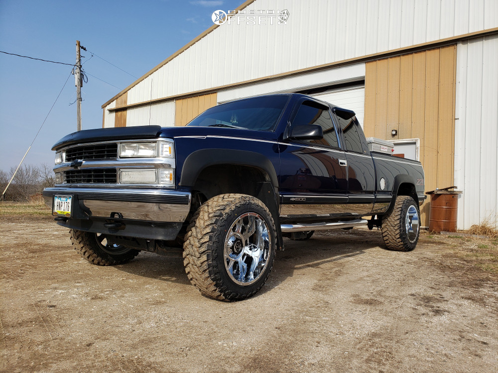 """1998 Chevrolet K1500 Super Aggressive 3""""-5"""" on 20x12 -44 offset Gear Off-Road Kickstand and 33""""x12.5"""" Atturo Trail Blade Mt on Suspension Lift 4"""" - Custom Offsets Gallery"""