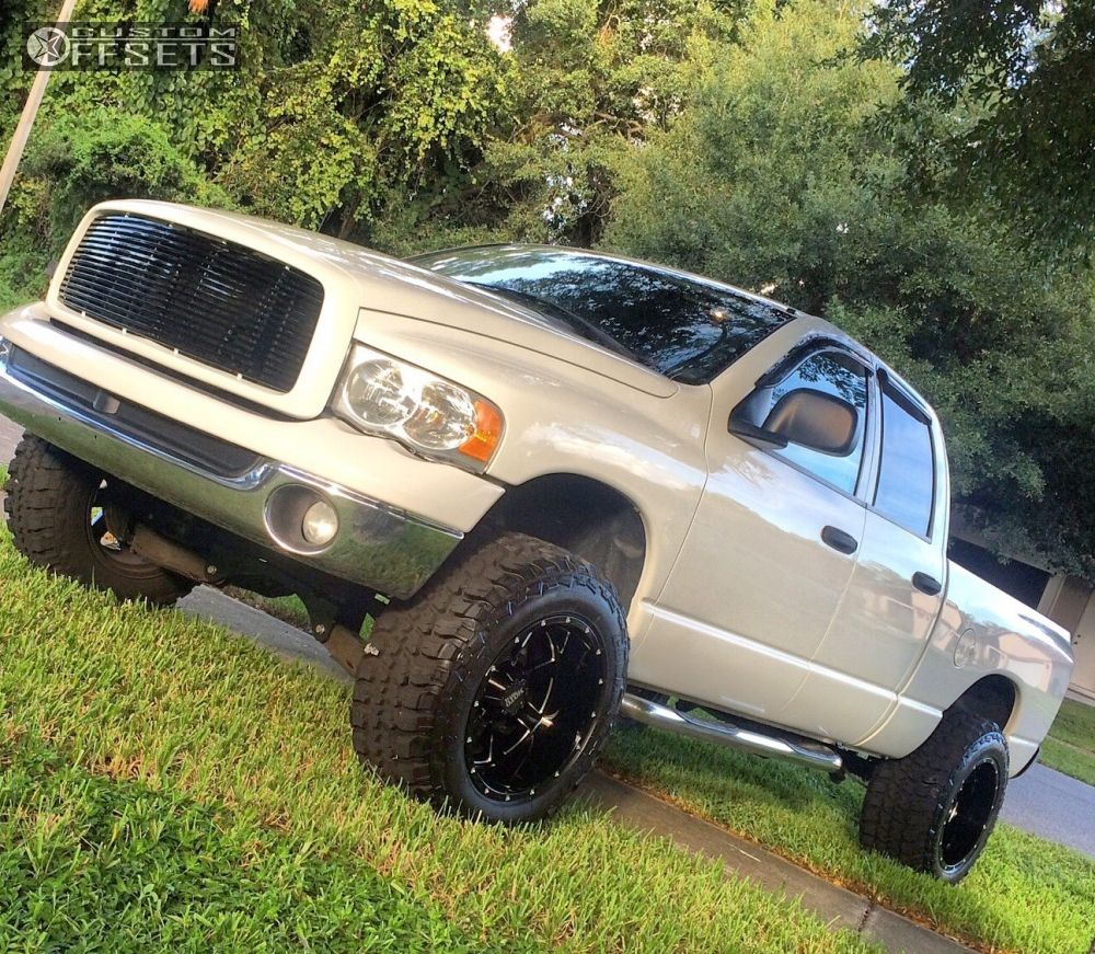 1 2005 Ram 1500 Dodge Suspension Lift 6 Moto Metal Mo962 Black Aggressive 1 Outside Fender