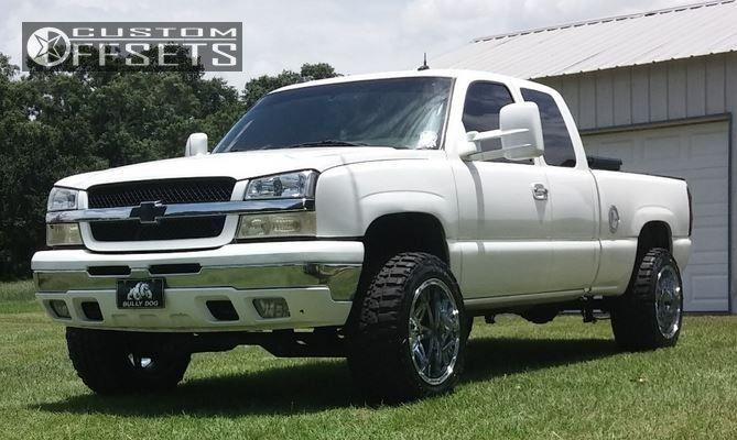 1 2004 Silverado 1500 Chevrolet Suspension Lift 6 Fuel Hostage Chrome Super Aggressive 3