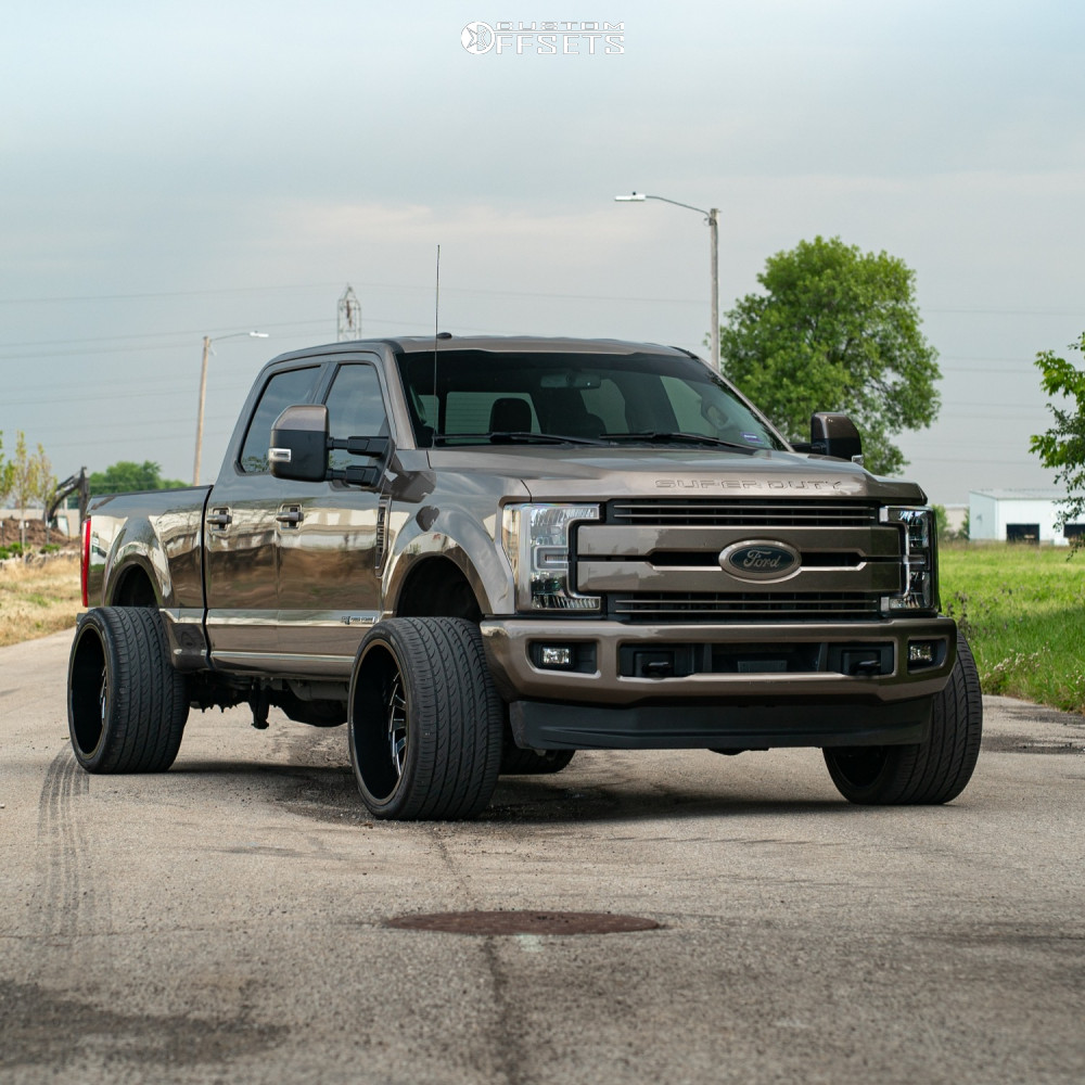 1 2018 F 250 Super Duty Ford Stock Level 2in Drop Rear Arkon Off Road Alexander Machined Accents