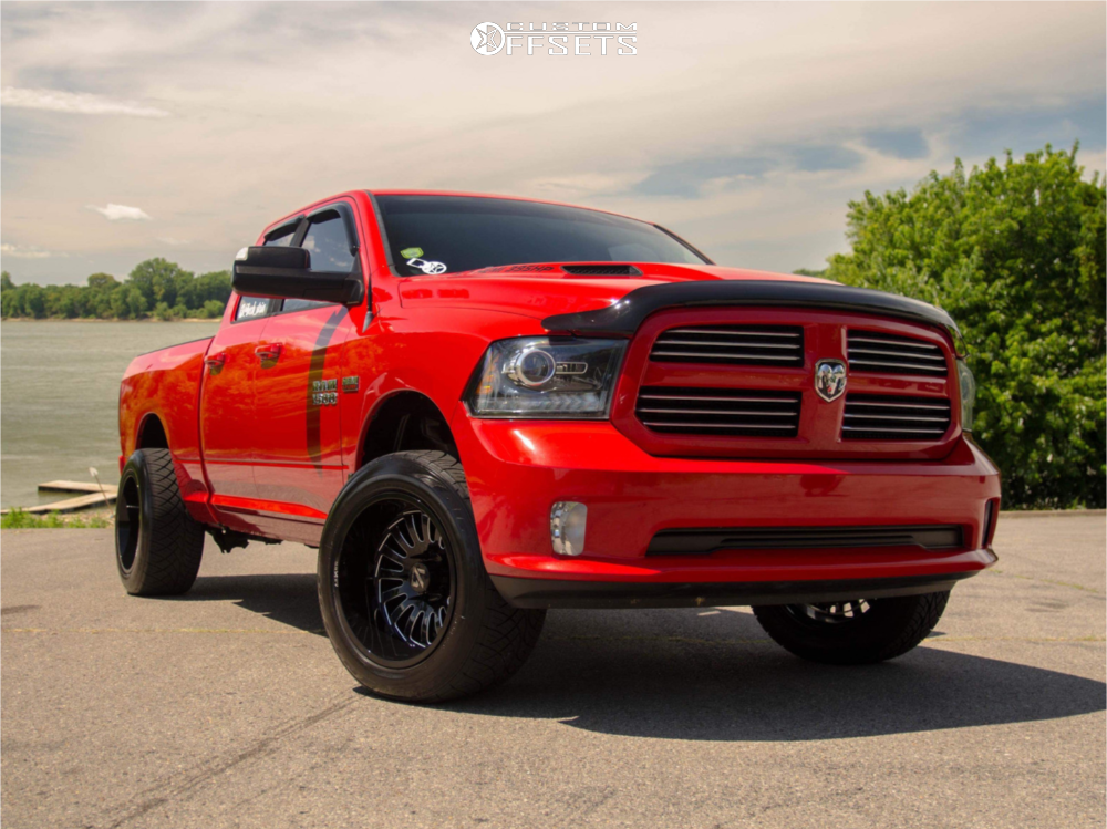 6 2014 Ram 1500 Dodge Stock Stock Arkon Off Road Alexander Black
