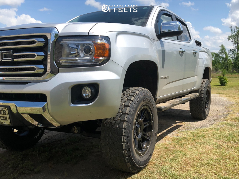 1 2018 Canyon Gmc Rough Country Suspension Lift 6in Helo He900 Black