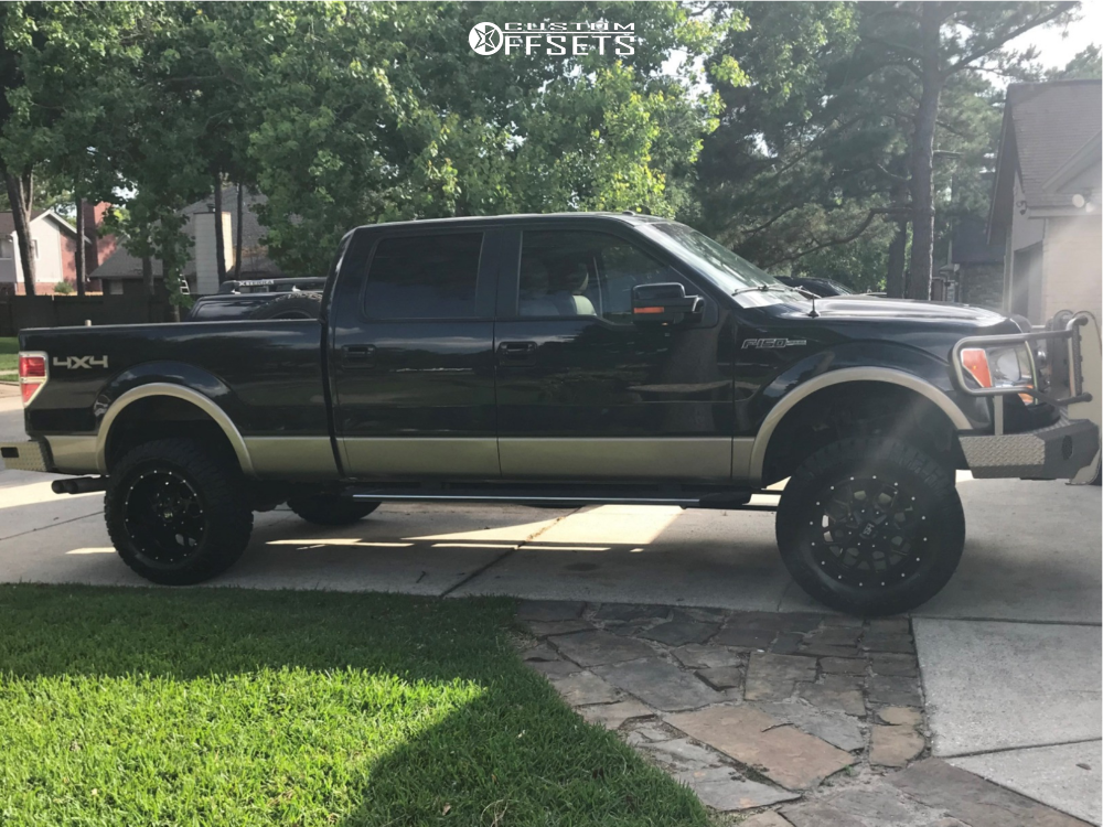 "2013 Ford F-150 Aggressive > 1"" outside fender on 20x10 -19 offset Hardrock Gunner and 35""x12.5"" Nitto Ridge Grappler on Suspension Lift 6"" - Custom Offsets Gallery"