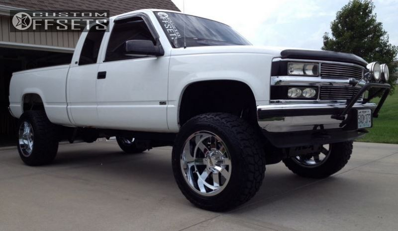 1 1998 K1500 Chevrolet Suspension Lift 4 Moto Metal 962 Chrome Super Aggressive 3