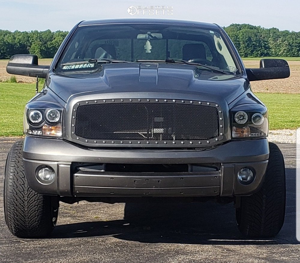 2 2008 Ram 1500 Dodge Summit Preformance Leveling Kit Gear Alloy Wrath Machined Black