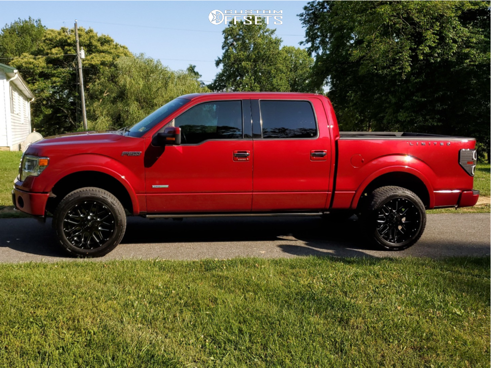 "2013 Ford F-150 Aggressive > 1"" outside fender on 20x10 -24 offset G-FX Tr Mesh 4 and 275/55 Westlake Sl369 on Leveling Kit - Custom Offsets Gallery"