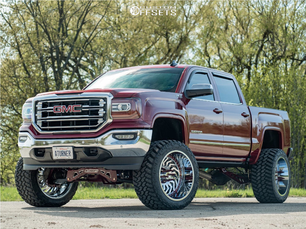 1 2018 Sierra 1500 Gmc Mcgauphys Cognito Suspension Lift 9in Arkon Off Road Crown Series Victory Chrome