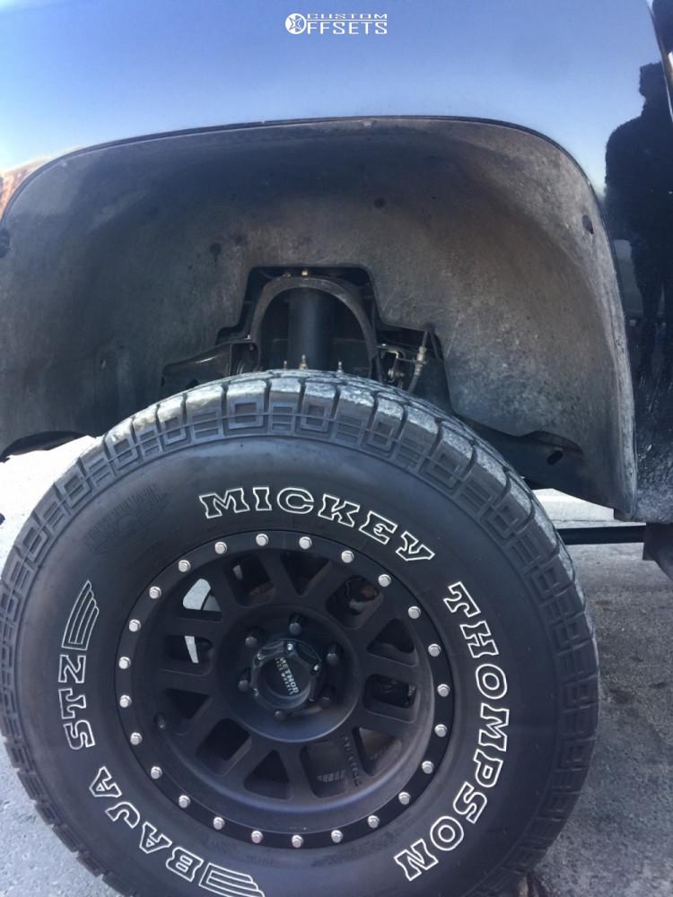 8 2008 Silverado 1500 Chevrolet Not Sure Suspension Lift 6in Method Mesh Matte Black