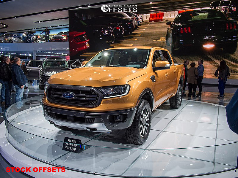 "2019 Ford Ranger Aggressive > 1"" outside fender on 18x8 55 offset Stock Stock and 265/60 Stock Stock on Stock Suspension - Custom Offsets Gallery"