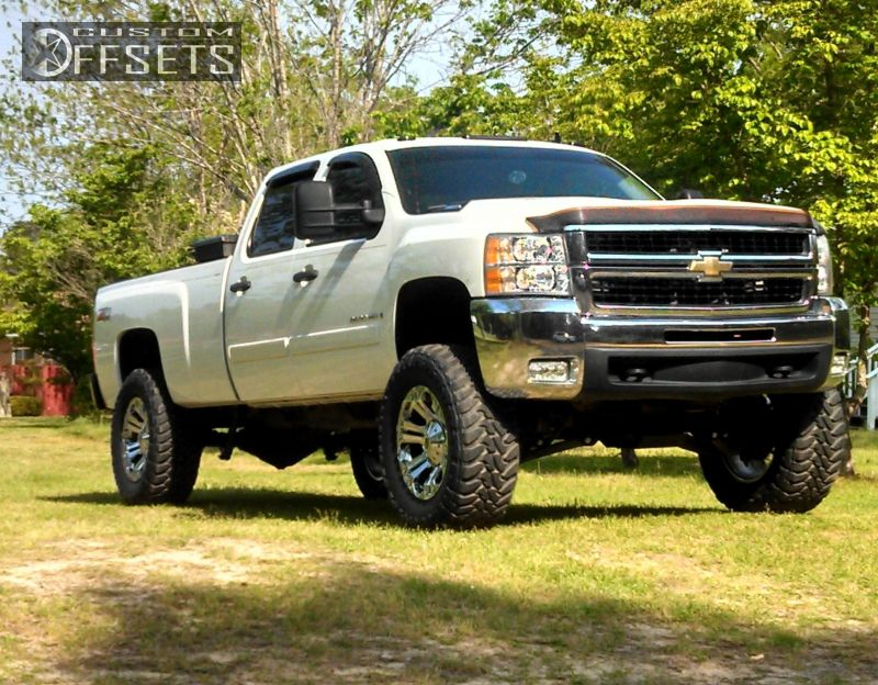 wheel offset 2008 chevrolet silverado 2500hd slightly. Black Bedroom Furniture Sets. Home Design Ideas