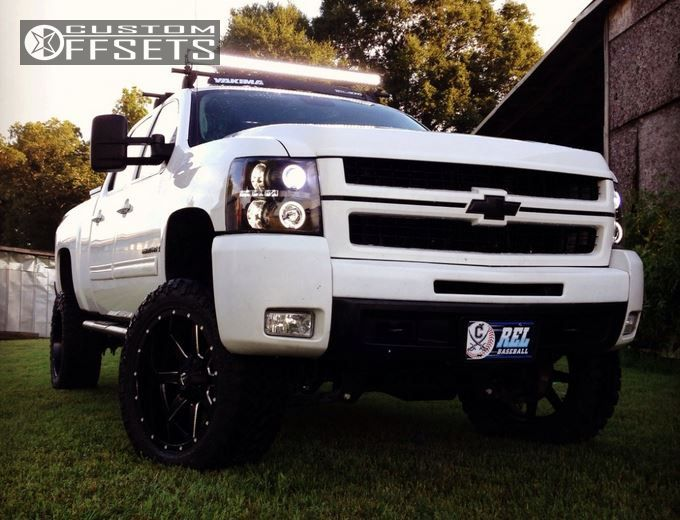1 2009 Silverado 2500 Hd Chevrolet Suspension Lift 6 Fuel Maverick Black Slightly Aggressive
