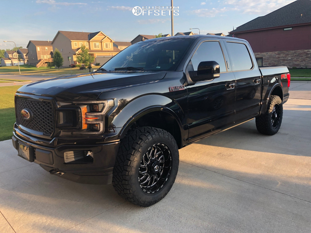 "2019 Ford F-150 Slightly Aggressive on 20x9 0 offset TIS 544bm and 295/60 Nitto Ridge Grappler on Suspension Lift 2.5"" - Custom Offsets Gallery"