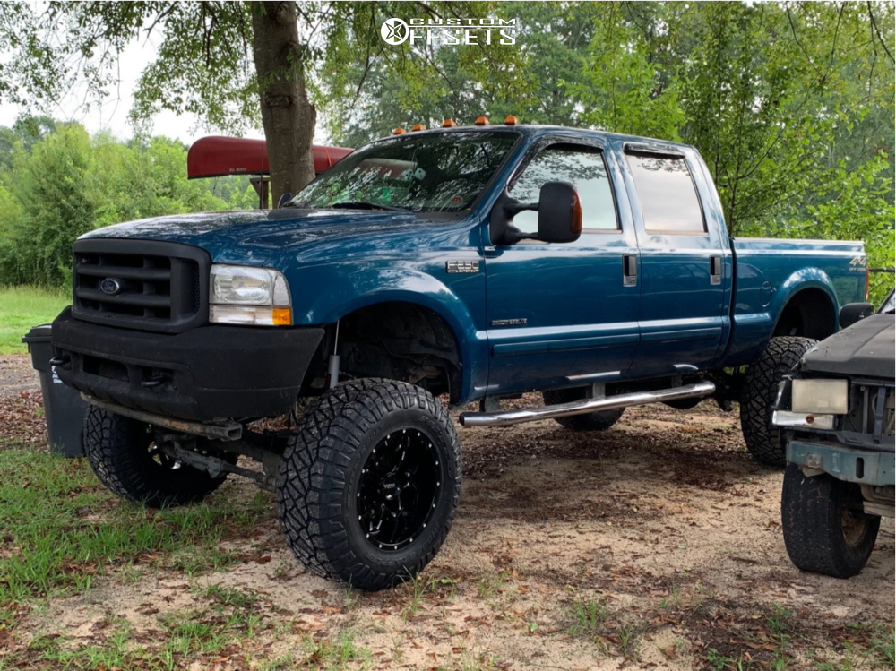 1 2002 F 250 Super Duty Ford Rough Country Suspension Lift 8in Ultra Carnivore Machined Black