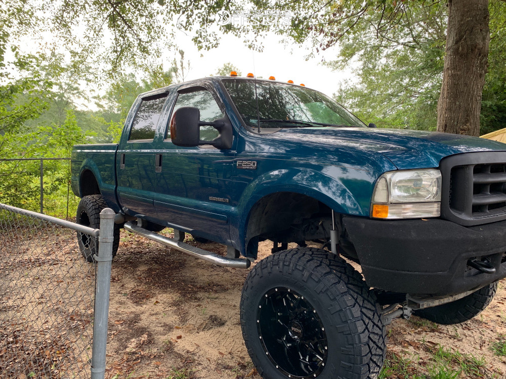 12 2002 F 250 Super Duty Ford Rough Country Suspension Lift 8in Ultra Carnivore Machined Black