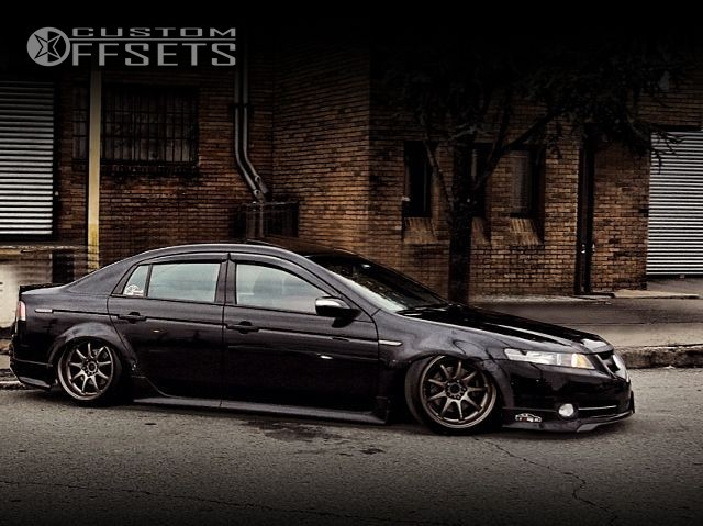 Wheel Offset Acura Tl Tucked Bagged Custom Rims - Rims for acura tl