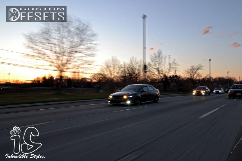 Wheel Offset 2007 Acura Tl Tucked Bagged Custom Rims