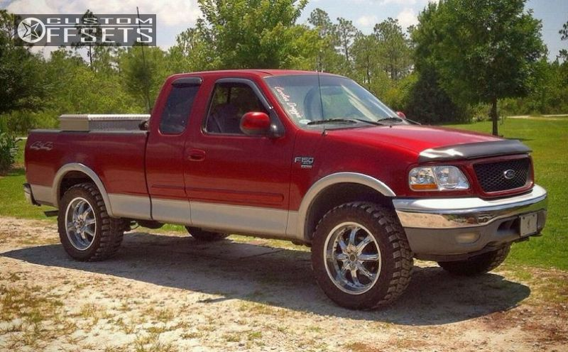 wheel offset 2001 ford f 150 slightly aggressive. Black Bedroom Furniture Sets. Home Design Ideas