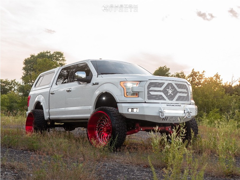 1 2015 F 150 Ford Rolling Big Power Suspension Lift 8in Arkon Off Road Crown Series Victory Red