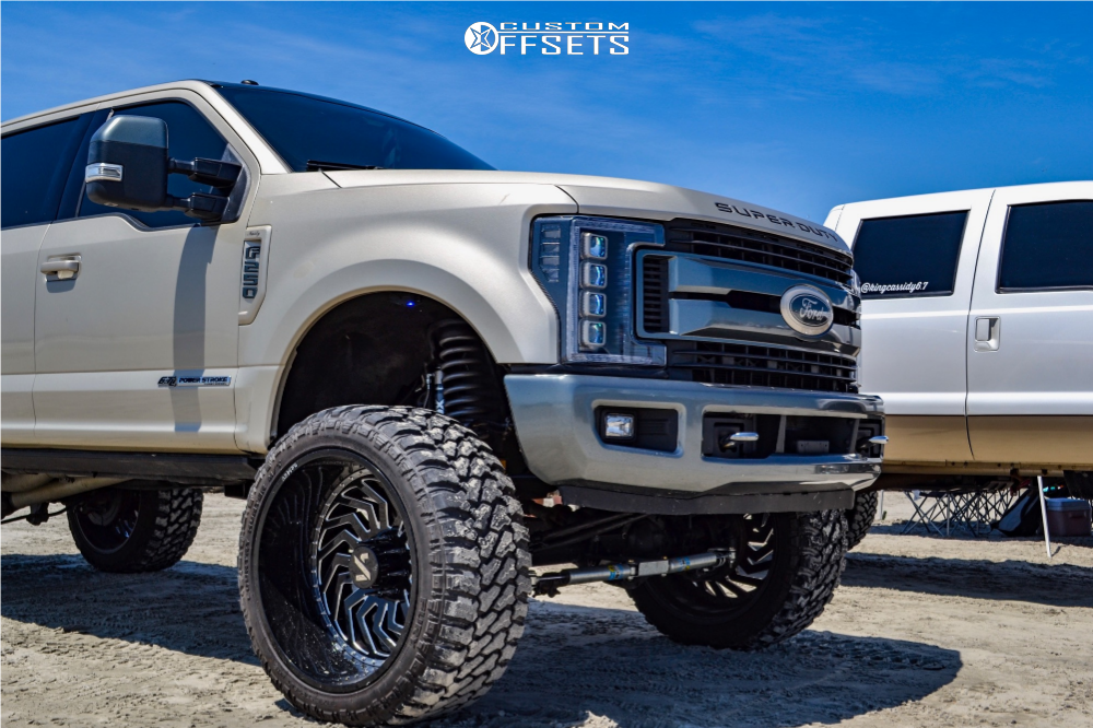 1 2017 F 250 Super Duty Ford Bds Suspension Lift 8in Arkon Off Road Crown Series Victory Black Milled