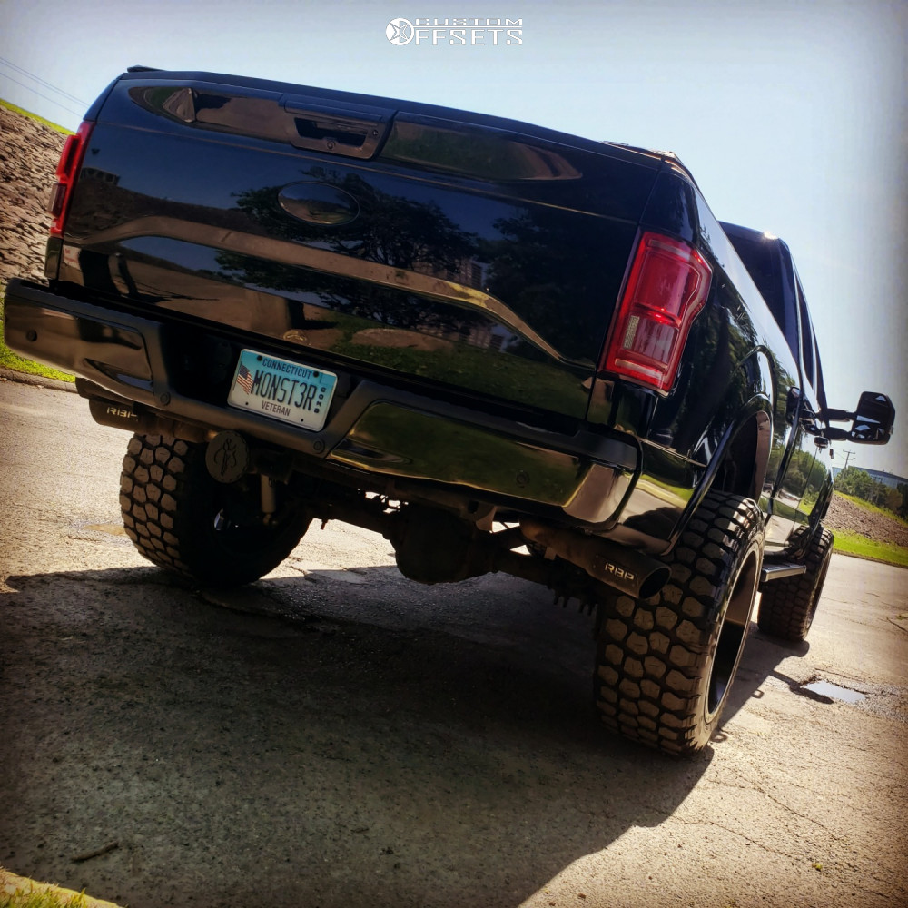 3 2017 F 150 Ford Rough Country Suspension Lift 6in Rbp 87r Black