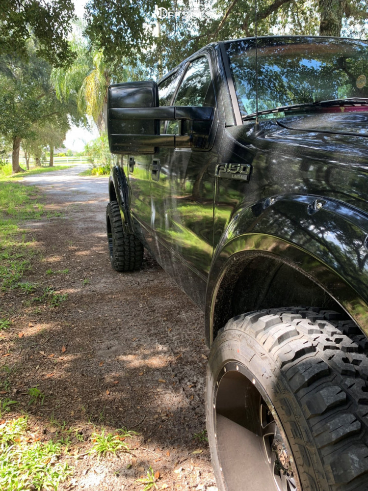 """2006 Ford F-150 Aggressive > 1"""" outside fender on 20x12 -44 offset Hardrock Crusher and 33""""x12.5"""" Federal Couragia Mt on Leveling Kit - Custom Offsets Gallery"""