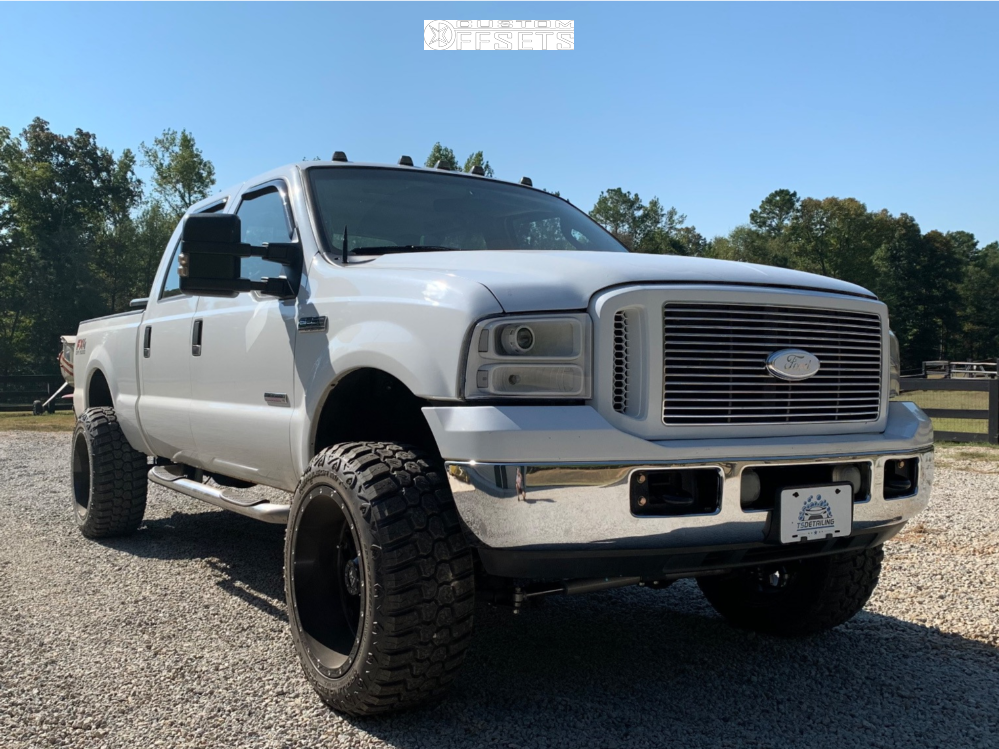 """FORD F250 F350 SUPER DUTY 4WD 3/"""" RED FRONT 2/"""" REAR LIFT LEVELING KIT 2005"""