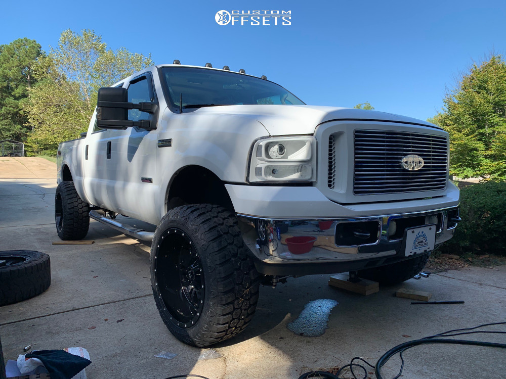 9 2006 F 250 Super Duty Ford Rough Country Suspension Lift 3in Rbp 87r Black