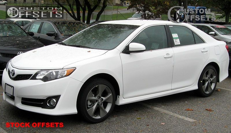 Wheel Offset 2012 Toyota Camry Tucked Stock Custom Rims