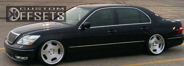 Wheel Offset 2004 Lexus Ls 430 Slightly Aggressive Bagged Custom Rims
