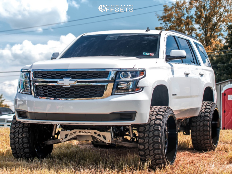 "2015 Chevrolet Tahoe Super Aggressive 3""-5"" on 26x14 -72 offset Tuff T2a and 37""x13.5"" Gladiator Xcomp Mt on Suspension Lift 9"" - Custom Offsets Gallery"