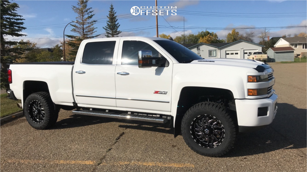 1 2019 Silverado 3500 Hd Chevrolet Rough Country Suspension Lift 35in Tis 544bm Machined Black
