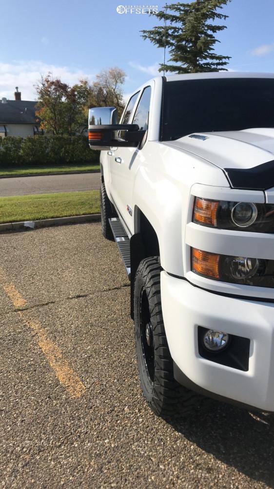 4 2019 Silverado 3500 Hd Chevrolet Rough Country Suspension Lift 35in Tis 544bm Machined Black
