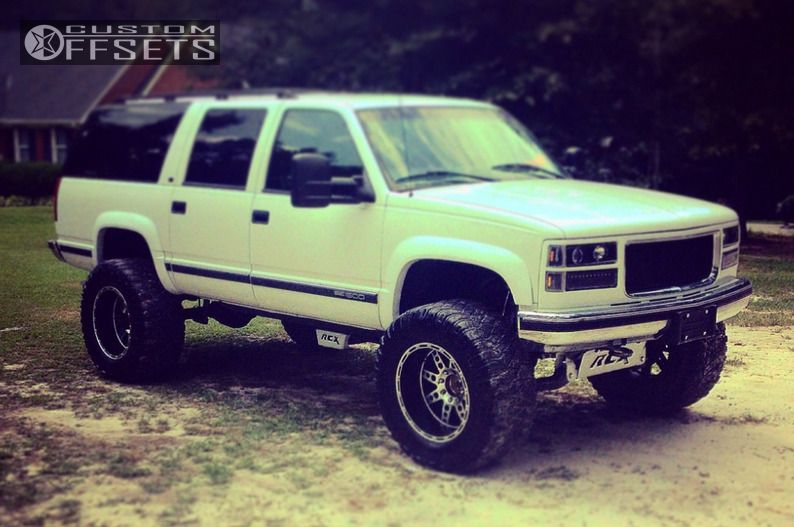 1 1999 K1500 Suburban Gmc Suspension Lift 75 Xd Series Diesels Machined Accents Super Aggressive 3