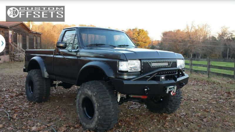 1 1987 f 150 ford lifted 9 black rock type 8 997b black hella stance 5