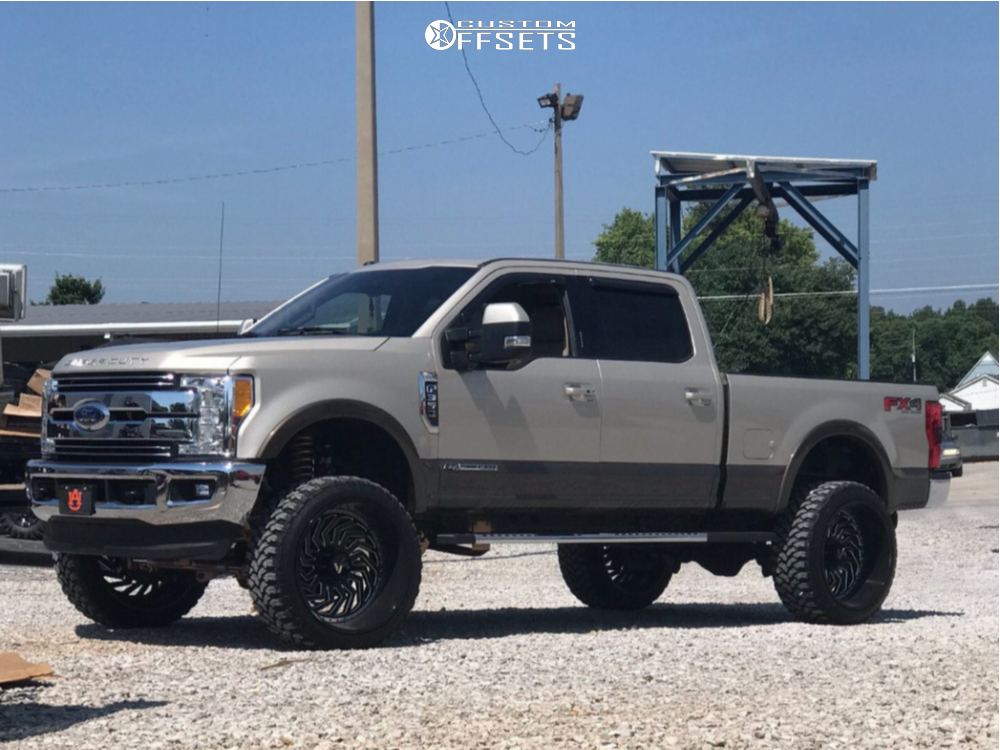 1 2018 F 350 Super Duty Ford Rough Country Suspension Lift 6in Arkon Off Road Crown Series Victory Black