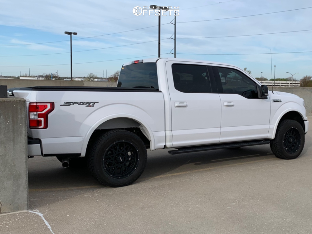 2018 Ford F-150 Slightly Aggressive on 20x9 10 offset Vision Rocker and 275/55 Pathfinder All Terrain on Leveling Kit - Custom Offsets Gallery