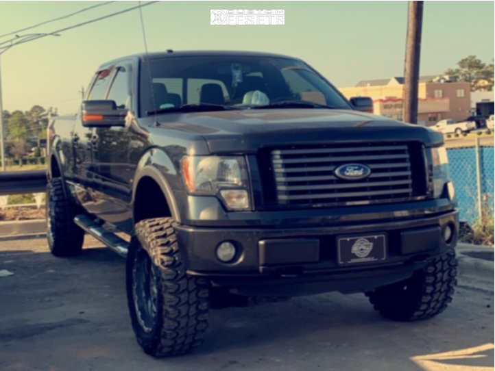 "2011 Ford F-150 Super Aggressive 3""-5"" on 20x12 -40 offset Dropstars 645b and 35""x12.5"" Nitto Trail Grappler on Suspension Lift 4.5"" - Custom Offsets Gallery"