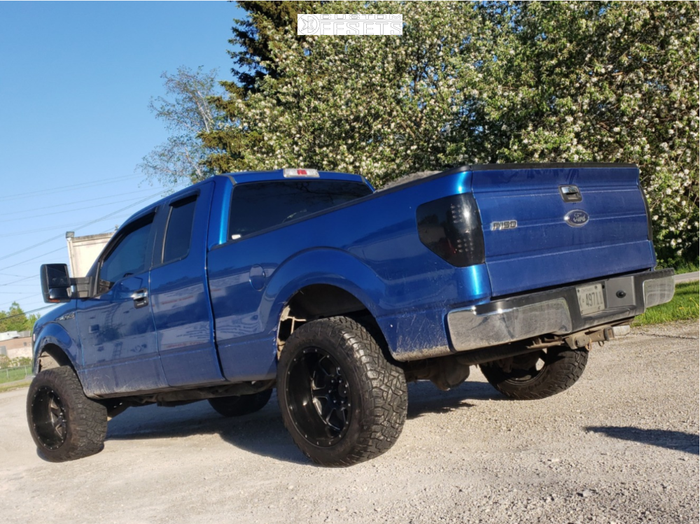 """2012 Ford F-150 Super Aggressive 3""""-5"""" on 20x12 -44 offset Gear Off-Road 726mb and 305/55 Fuel Gripper At on Leveling Kit - Custom Offsets Gallery"""
