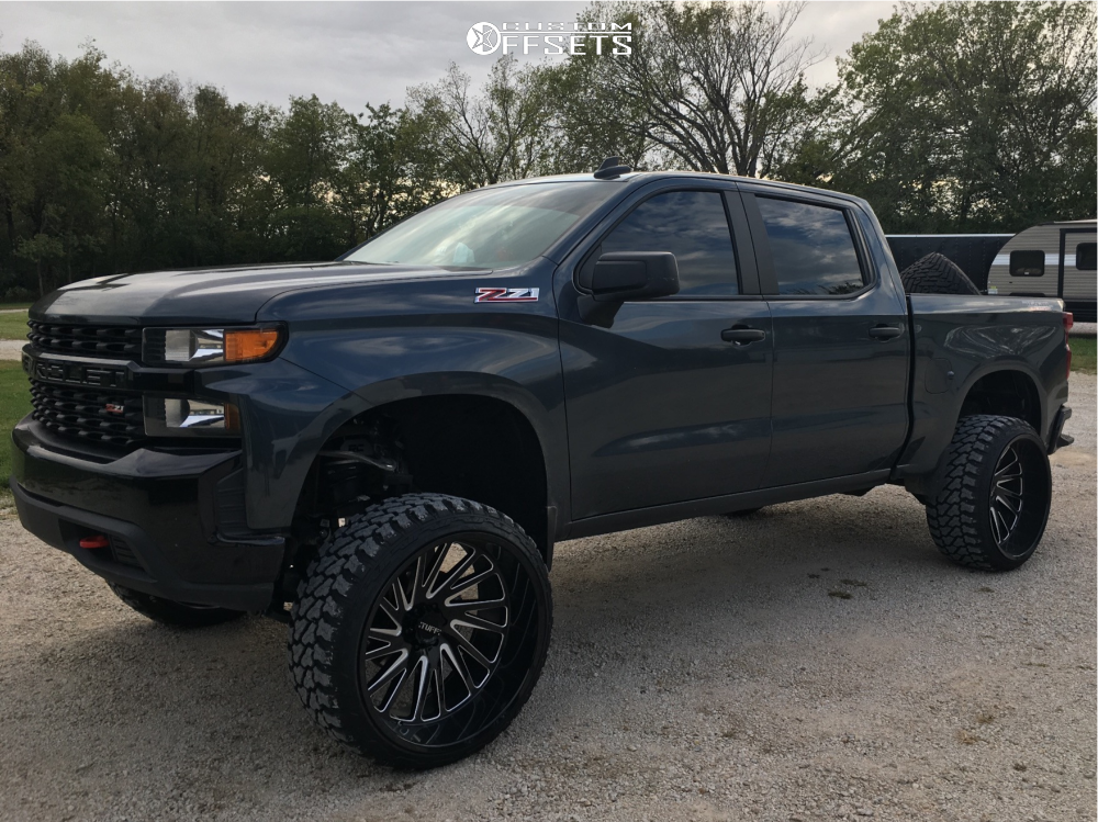 """2019 Chevrolet Silverado 1500 Super Aggressive 3""""-5"""" on 26x14 -72 offset Tuff T2a and 35""""x13.5"""" Fury Offroad Country Hunter Mt on Suspension Lift 4"""" - Custom Offsets Gallery"""
