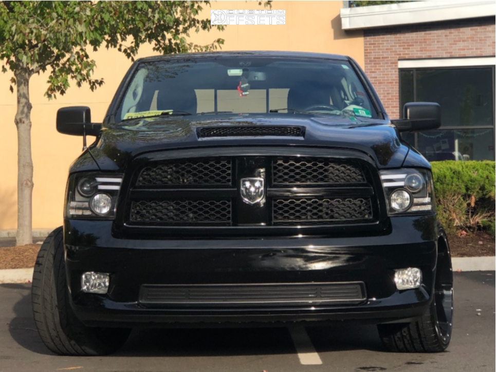 """2012 Ram 1500 Super Aggressive 3""""-5"""" on 22x12 -44 offset Ultra Carnivore and 315/30 Atturo Az850 on Lowered on Springs - Custom Offsets Gallery"""
