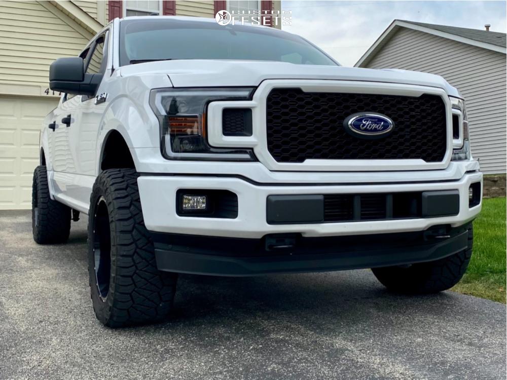 12 2019 F 150 Ford Motofab Leveling Kit Hostile Sprocket Black Milled