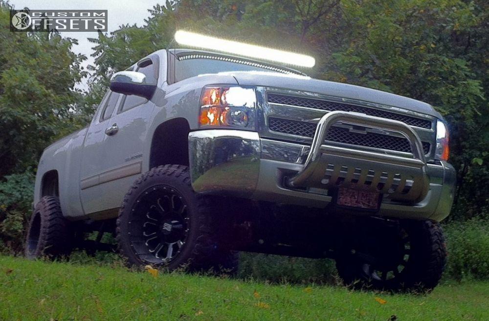 12 2013 Silverado 1500 Chevrolet Suspension Lift 75 Xd Bomb Machined Accents Super Aggressive 3 5