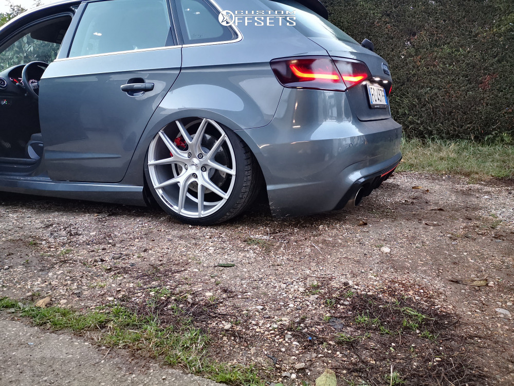 2016 Audi A3 Nearly Flush on 19x8.5 40 offset Z Performance Zp09 and 225/35 Hankook Ventus V12 Evo on Lifted - Custom Offsets Gallery